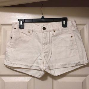 J. Crew White Denim Shorts